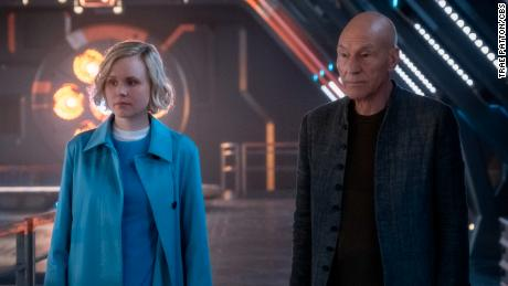 Alison Pill and Patrick Stewart in 'Star Trek: Picard'