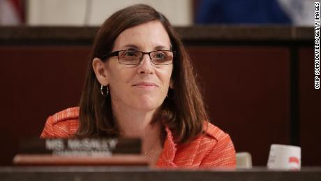 Martha McSally (R-AZ) conducts a hearing at the U.S. Capitol May 23, 2017 in Washington, DC. The subcommittee heard testimony about visa overstays and the federal government's progress in developing a biometric entrance and exit tracking system for people crossing international borders.