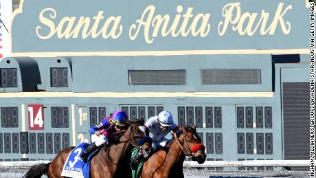 Third horse in three days dies at Santa Anita during training hours
