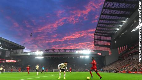 Anfield exploded with noise as Liverpool extended its lead to 16 points.