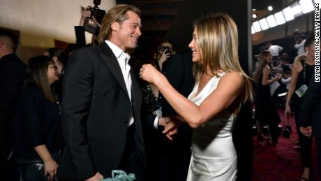 Brad Pitt and Jennifer Aniston shared a moment at the 2020 SAG Awards in January.