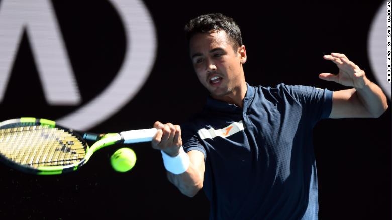 Hugo Dellien là người Bolivian đầu tiên từng chơi tại Australian Open