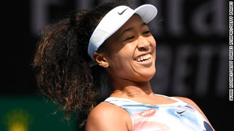 MELBOURNE, AUSTRALIA - JANUARY 22: Naomi Osaka of Japan reacts during her Women's Singles second round match against Saisai Zheng of China on day three of the 2020 Australian Open at Melbourne Park on January 22, 2020 in Melbourne, Australia. (Photo by Quinn Rooney/Getty Images)