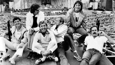 Jones, second from left, with the rest of 'Monty Python' in 1982.