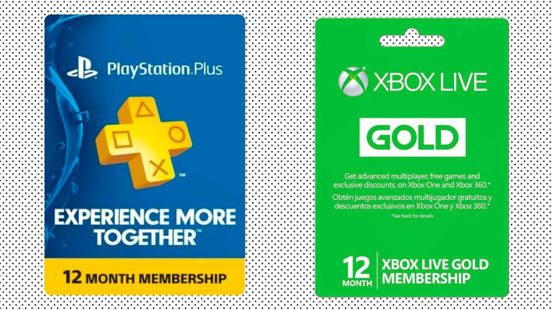 Xbox Live Gold and PlayStation Plus are in play on eBay