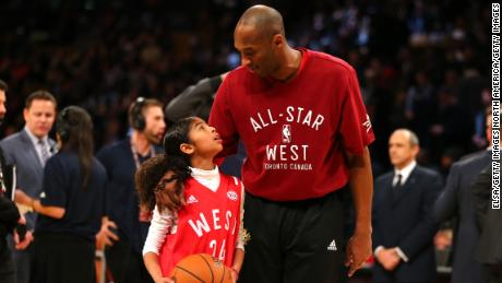 Bryant, pictured with his daughter Gianna, made his last of 18 All-Star games in his retirement year in 2016.