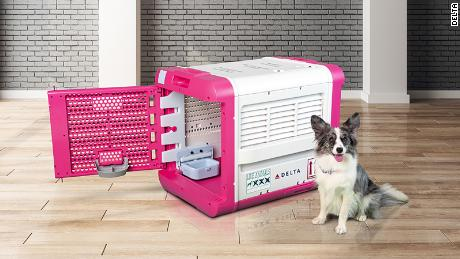 Delta has a new upscale, high-tech pet carrier available. Cost? $850