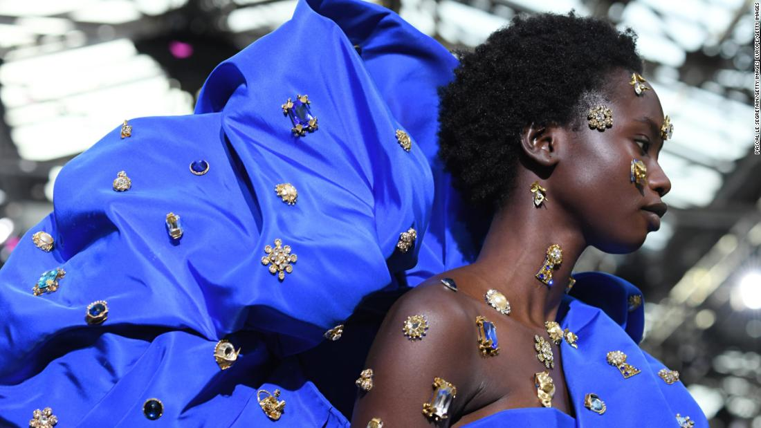 Ballgowns, champagne bags and Gaultier's final show at the Haute Couture week in Paris