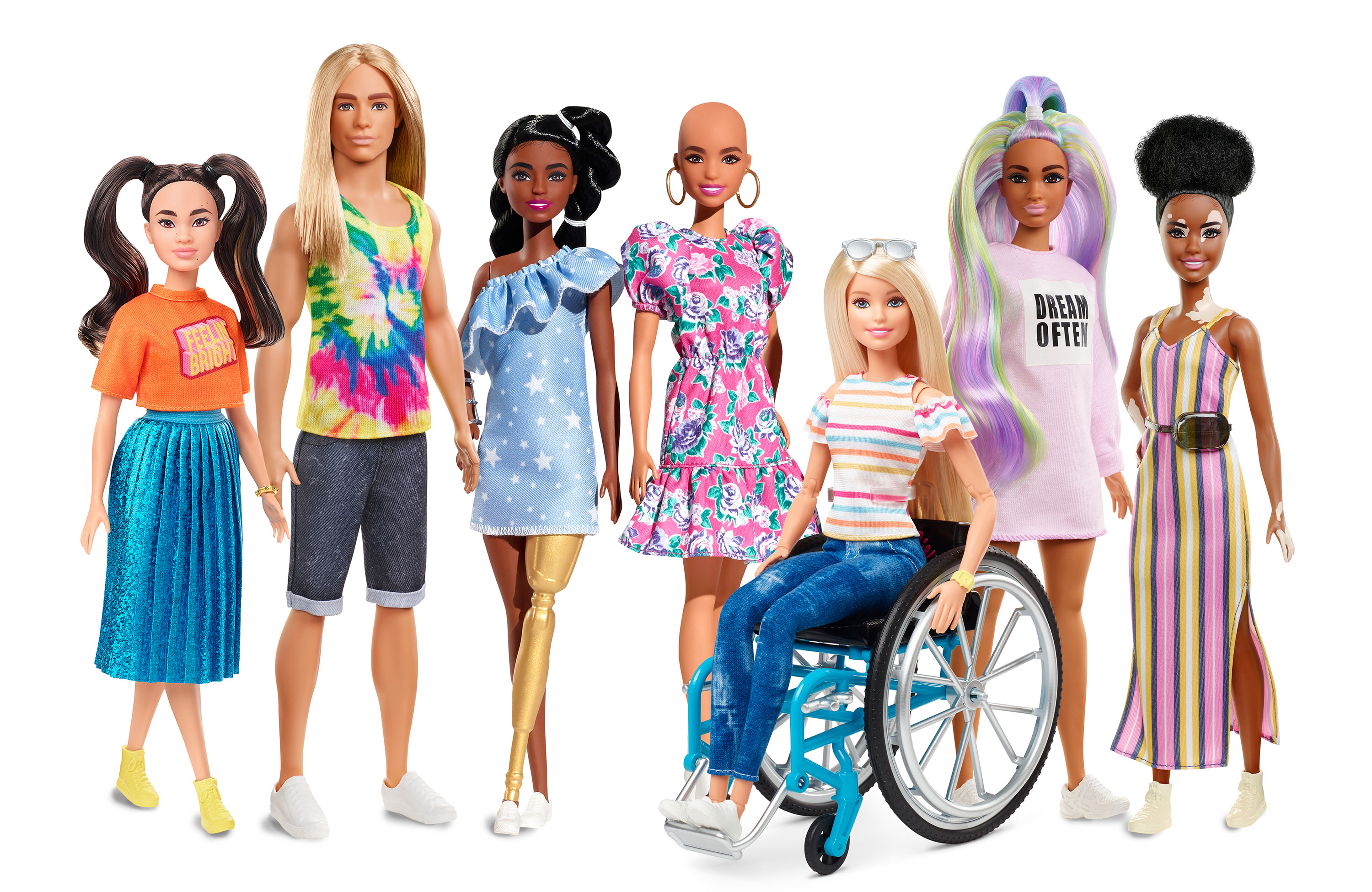 New Barbie Dolls Feature Vitiligo And Hairless Models Cnn Style