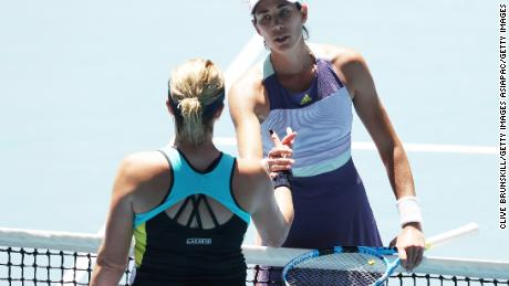 Muguruza has reached her first grand slam semifinal since the 2018 French Open.