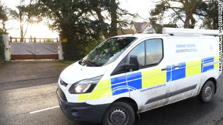 Cheshire police arrive at the home of Manchester United executive Ed Woodward.