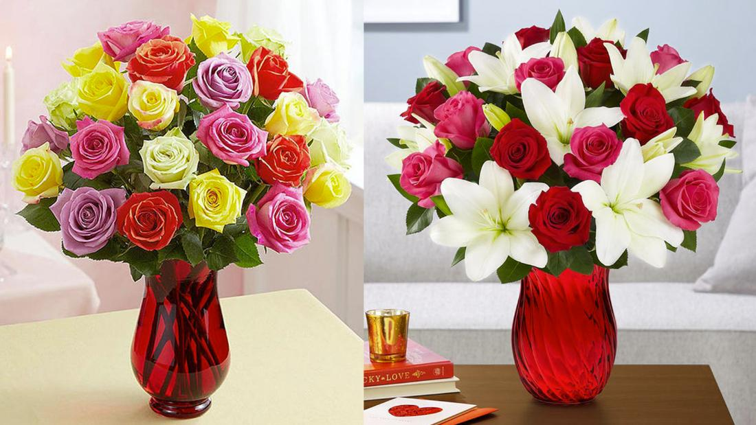 Buy a discounted bouquet from 1-800-Flowers in time for Valentine's Day