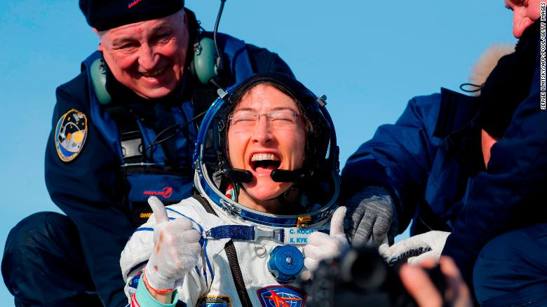 Astronaut Christina Koch posts heartwarming video of reunion with dog