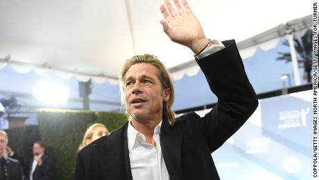 Brad Pitt at the SAG Awards in January (Photo by Mike Coppola/Getty Images for Turner)
