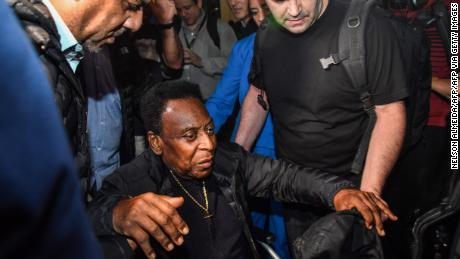Pele at Guarulhos International Airport in Brazil on April 9, 2019.