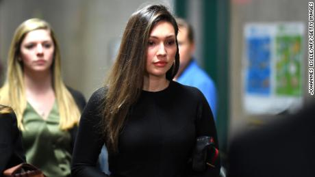 Former actress Jessica Mann arrived for Weinstein's trial on January 31, 2020 in New York City.