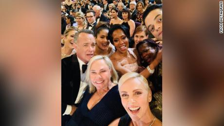 Charlize Theron nabbed an epic Oscars selfie