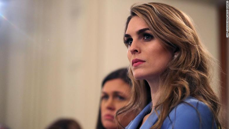 Top White House adviser Hicks no longer works at the White House, a previously planned departure