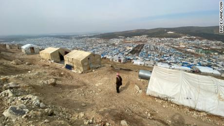 Once independent from each other, the camps along the border with Turkey have sprawled into a massive city of semi-permanent structures.