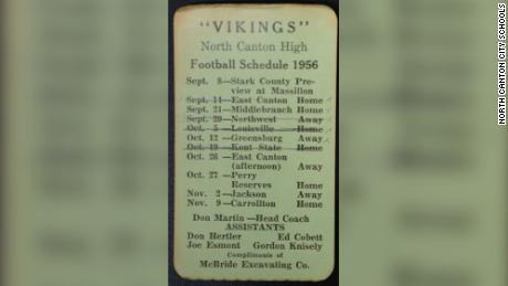 The high school football program for the 1956 season.