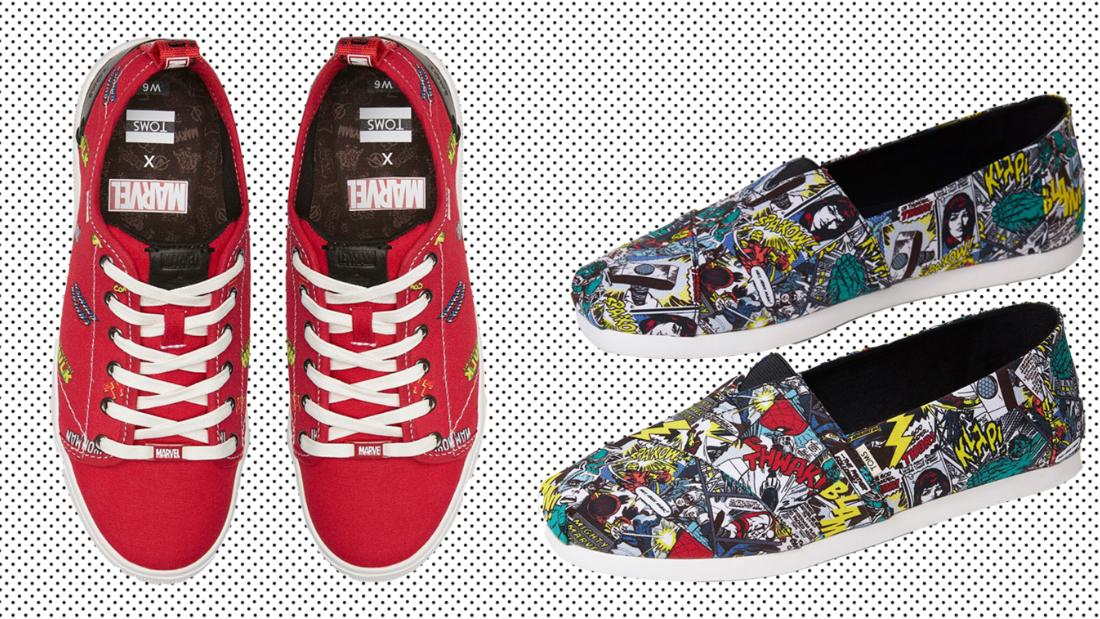 Show off your inner superhero with the Marvel x Toms collection