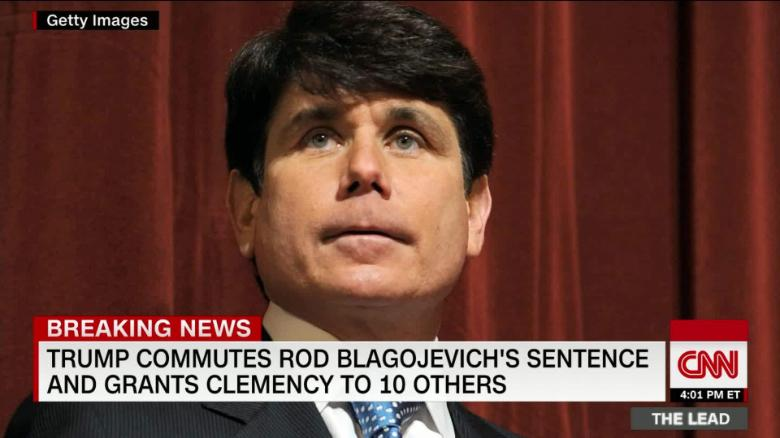 Trump Commutes Prison Sentence of Former Illinois Governor Rod Blagojevich
