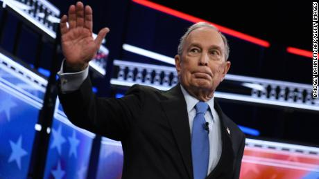 Bloomberg arrives for the ninth Democratic primary debate