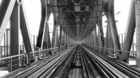 A view of the 1,678-meter long  Yangtze River Bridge in Wuhan, China.