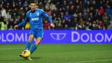 Cristiano Ronaldo slots home the opening goal for Juventus in a 2-1 win at SPAL, the 11th straight Serie A game the Portuguese star has scored in.