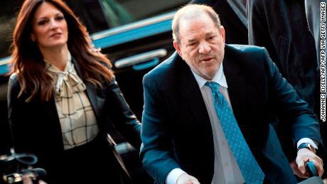 Harvey Weinstein arrives at court last month.