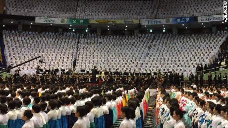 One of Shincheonji's mass worship events.