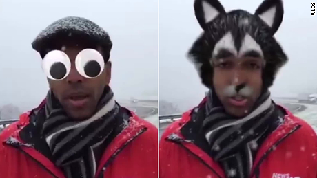 Reporter Inadvertently Turns On Facebook Mask Filter In Live News Mishap