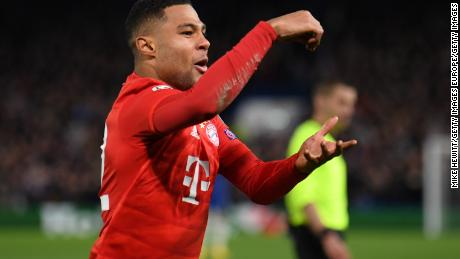 Serge Gnabry loves London ... the Bayern forward has now scored six goals in the UK capital in the Champions League this season -- four against Spurs and two against Chelsea.