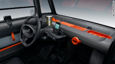 In the Citroën Ami, the driver's smartphone functions as a secondary gauge cluster.