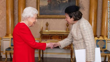 The Queen was not wearing gloves during official engagements Wednesday.