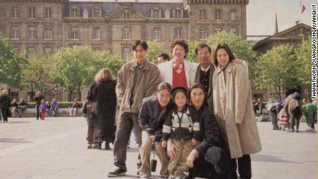 Thanathorn Juangroongruangkit (front right) with his parents and siblings in 1998.