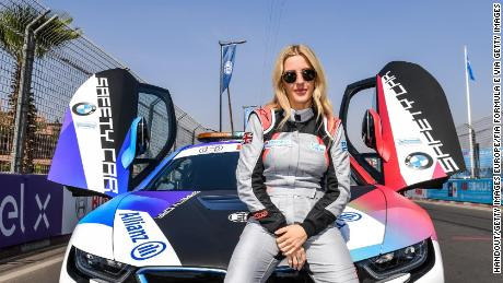 MARRAKECH, MOROCCO - FEBRUARY 29: In this handout from FIA Formula E, Singer Ellie Goulding on February 29, 2020 in Marrakech, Morocco. (Photo by ABB FIA Formula E/Handout/Getty Images)