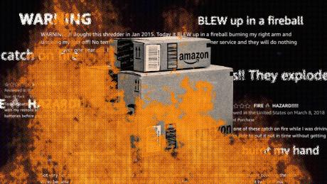 Dozens of Amazon's own products have been reported as dangerous -- melting, exploding or even bursting into flames. Many are still on the market