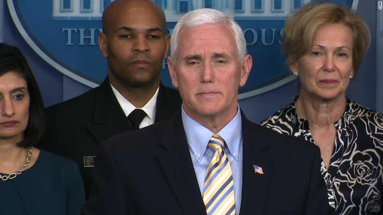 Pence says he and his wife will be tested for coronavirus