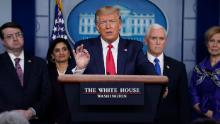 How Trump's rhetoric has changed as coronavirus spread