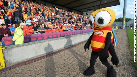 The Partick Thistle mascot Jaggy Macbee before the Scottish Premiership League match between Partick Thistle and Dundee United in 2013.
