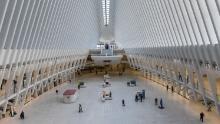 The Oculus transportation hub in Lower Manhattan on March 15 amid the coronavirus outbreak.