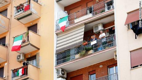 Italians sing together as radio stations unite to broadcast the national anthem