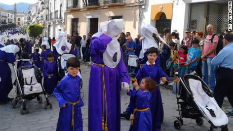 Easter week processions normally draw huge crowds.
