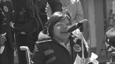 A rally for disabled rights in 'Crip Camp'