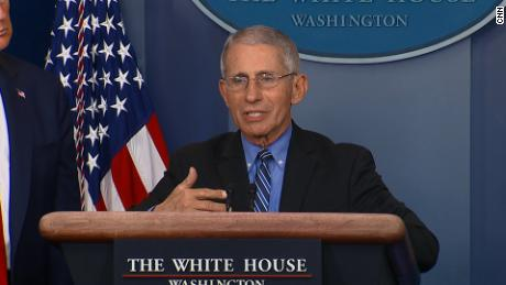 Dr. Anthony Fauci: Trump's desire to reopen the country by Easter is an 'aspirational projection'