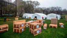 New York's Central Park and harbor are now home to makeshift hospitals