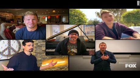 Backstreet Boys reunite for iHeartRadio's Living Room Concert for America