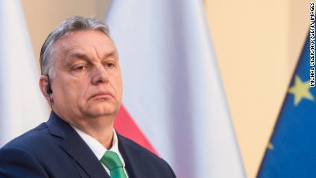 Hungary's Prime Minister Viktor Orban at a news conference on the coronavirus on March 4.