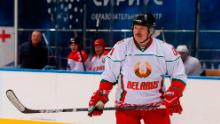 'better to die standing than live on your knees,'said the President of Belarus Alexander Lukashenko at the hockey game